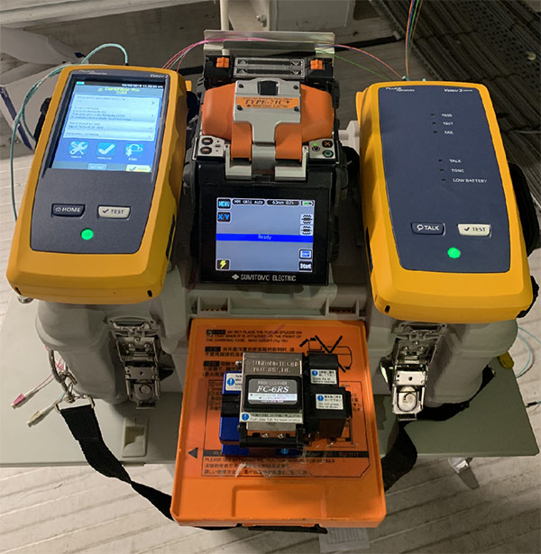 Fusion Fibre Splicer with Fluke Tester